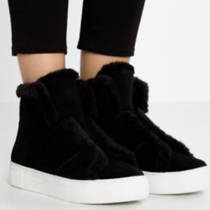 DKNY Mason Suede Low Top Zippered Boot/Sneaker